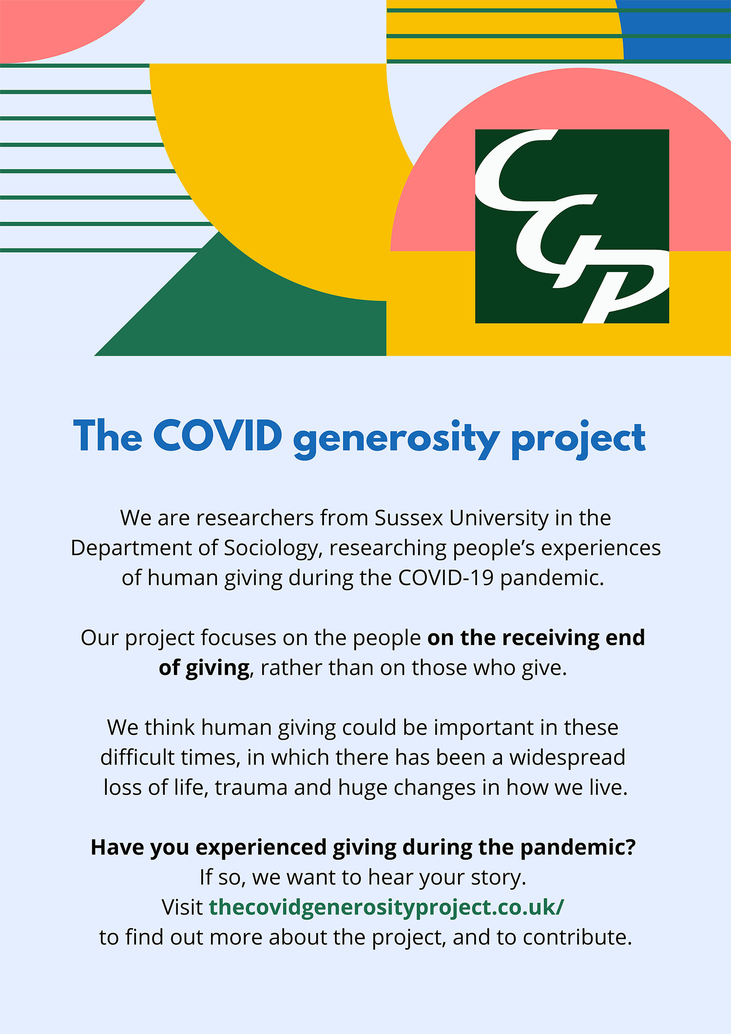 The Covid Generosity Project